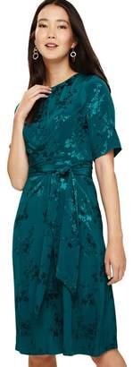 Phase Eight Blue Jaimee Jaquard Dress