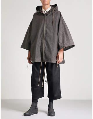 Toogood The Explorer drawstring waxed-cotton coat