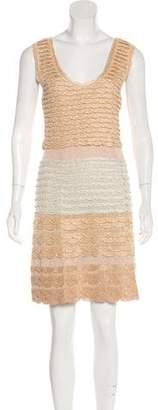 Missoni Lame` Tiered Mini Dress