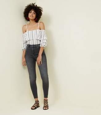 New Look Tall Black Rinse Wash High Waist Skinny Jeans