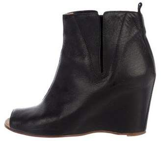 MM6 MAISON MARGIELA Leather Wedge Boots