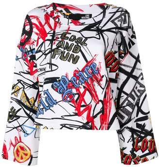 Love Moschino graffiti print sweatshirt