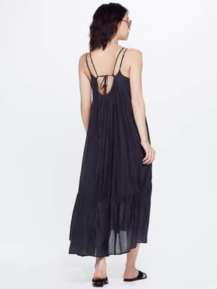 Mother XiRENA Edyn Gypset Calliope Silk Cotton Dress Stormy Gray