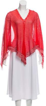 Missoni Knit Patterned Poncho