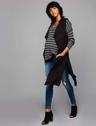BB Dakota Drape Front Cotton Woven Maternity Jacket