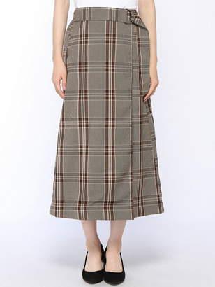 Ikka (イッカ) - ikka Ladys TRPUチェックロングSK イッカ スカート