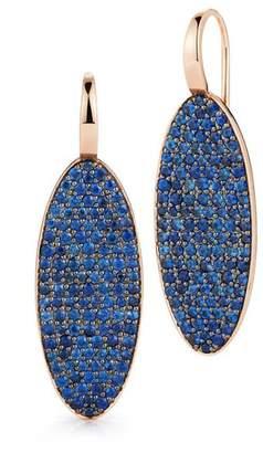 Walters Faith Lytton 18K Sapphire Oval Drop Earrings
