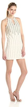 Betsy & Adam Women's Sleeveless Beaded Dress with Cut Out $279 thestylecure.com