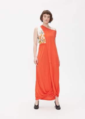 Marni One Shoulder Graphic Dress