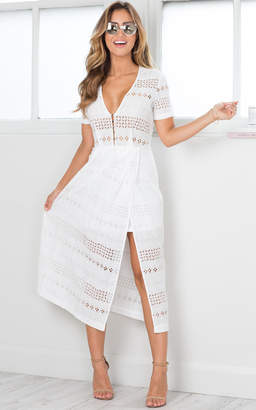 Showpo Worthwhile midi dress in white