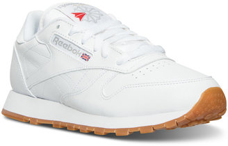 Reebok Women's Classic Leather Casual Sneakers from Finish Line $74.99 thestylecure.com