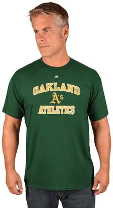 Majestic Men's Oakland Athletics Heart & Soul Tee