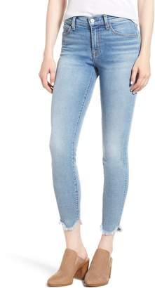 7 For All Mankind Luxe Vintage Scallop Hem Ankle Skinny Jeans