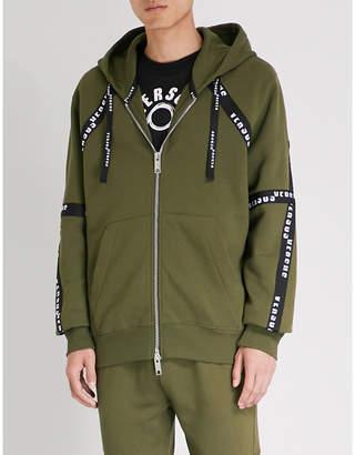 Versace Versus Logo-print cotton-jersey hoody