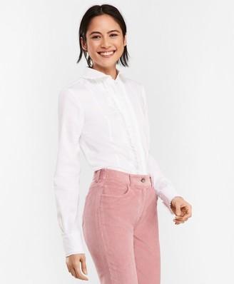 Brooks Brothers Pintucked Stretch Cotton-Blend Poplin Shirt