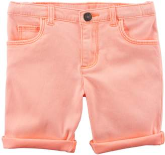 Carter's Toddler Girl Rolled-Cuff Midi Twill Shorts
