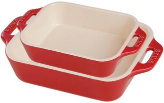 Staub Set Of 2 Rectangular Ceramic Baking Dishes