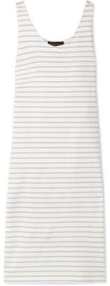Hatch Bateau Striped Cotton-jersey Midi Dress - Ivory