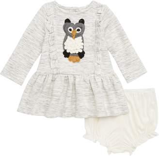 Pippa & Julie Ruffle Owl Dress