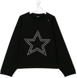Diesel TEEN eyelet star sweatshirt