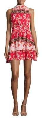 Parker Aurora Floral-Print Silk Mini Dress