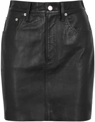 5ff024130 Helmut Lang Black Leather Mini Skirt