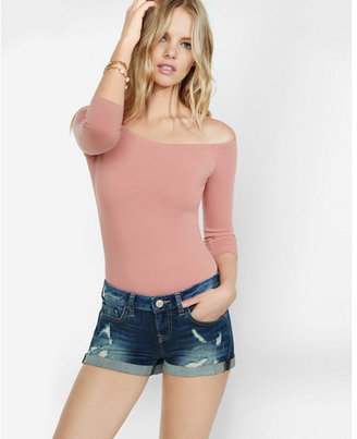Express express one eleven off the shoulder bodysuit $29.90 thestylecure.com