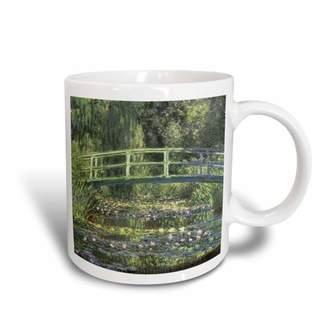 3dRose Water Lilies and Japanese Bridge Monet Vintage - Ceramic Mug, 11-ounce