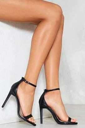 Nasty Gal Full Exposure Faux Leather Heel