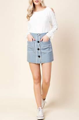 Honeybelle honey belle Boho Denim Skirt