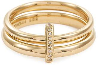 HYÈRES LOR 'Couple' diamond 14k gold double band ring