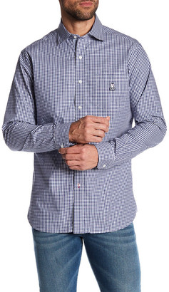 Psycho Bunny Sport Gingham Long Sleeve Regular Fit Shirt $135 thestylecure.com
