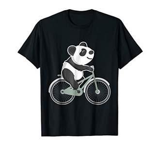 Panda Riding A Bicycle Tee
