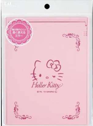 Hello Kitty (ハロー キティ) - 貝印 ハローキティ 軸が割れにくいミラー L KK2022