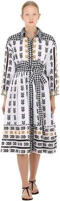 Cotton Jacquard & Lace Dress