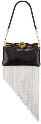 Gucci Broadway GG Snakeskin Evening Clutch Bag