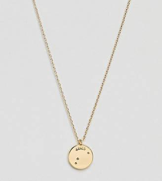 Accessorize Aries constellation gold pendant