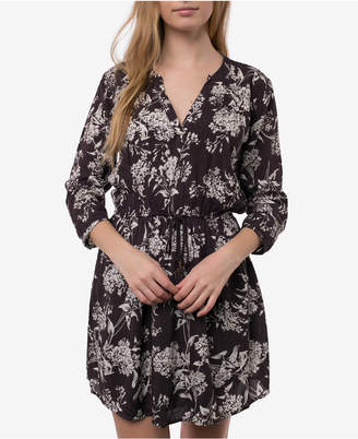 O'Neill Juniors' Lynnie Printed Drawstring Tassel Dress