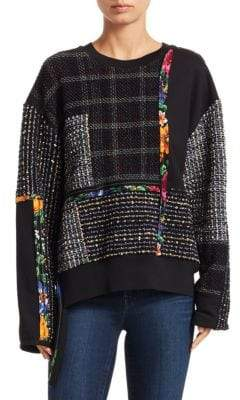 3.1 Phillip Lim Patchwork Tweed Sweater