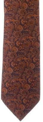 Stefano Ricci Paisley Print Silk Tie w/ Tags