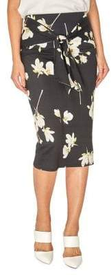 Dorothy Perkins Floral Tie-Front Pencil Skirt