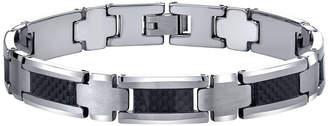 JCPenney FINE JEWELRY Mens Polished Tungsten & Carbon Fiber Bracelet