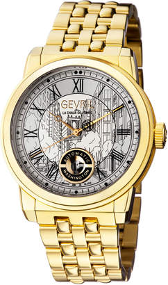 Gevril Men's Automatic Washington Gold tone Stainless steel Bracelet Watch