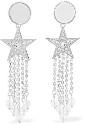 Miu Miu Silver-tone, Crystal And Perspex Clip Earrings