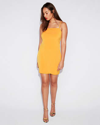 Express Cut-Out Tie Back Mini Sheath Dress