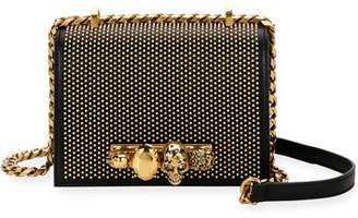 Alexander McQueen Jeweled Studded Shoulder Bag