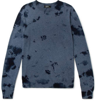 A.P.C. Tie-Dyed Wool And Cotton-Blend Sweater