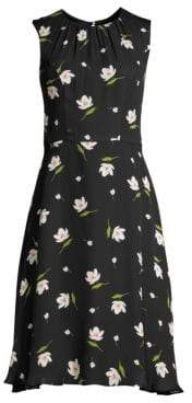Milly Anna Floral Silk Sheath Dress