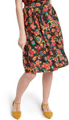 ModCloth Button Front Full Skirt