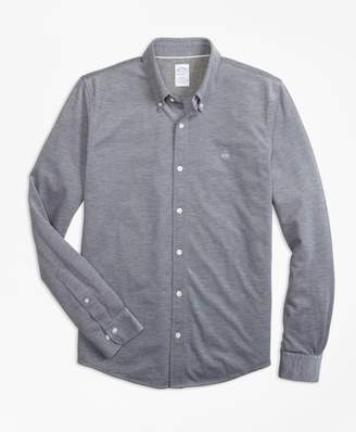 Brooks Brothers Supima Button-Down Knit Shirt